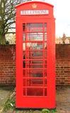телефон красного цвета коробки Стоковое Изображение RF