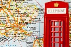 телефон красного цвета london будочки Стоковые Изображения