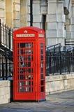 телефон красного цвета london коробки Стоковое фото RF