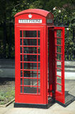 телефон красного цвета london коробки Стоковая Фотография