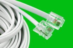 телефон макроса кабеля Стоковое фото RF