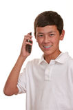 телефон мобильного телефона клетчатый предназначенный для подростков Стоковая Фотография RF