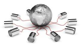 Телефон может и глобус земли Бесплатная Иллюстрация