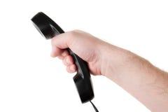 телефон мужчины удерживания руки Стоковые Фото