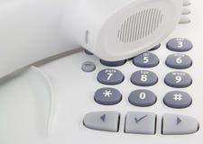 телефон настольного компьютера Стоковое фото RF