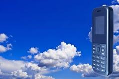 телефон неба предпосылки передвижной стоковая фотография