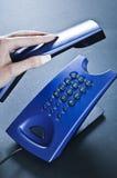 телефон отделкой переговора Стоковые Фото