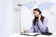 телефон офиса коммерсантки Стоковые Фото