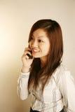 телефон офиса повелительницы ответа азиатский Стоковое Фото