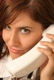 телефон переговора крупного плана Стоковые Изображения RF