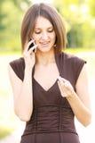 телефон переговора приятный Стоковые Фото