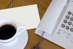 телефон письма кофе Стоковое фото RF