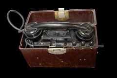 телефон портативной машинки установленный советский Стоковое фото RF