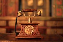 Телефон, прибор, старая вещь, забытые вещи, год сбора винограда Стоковое фото RF