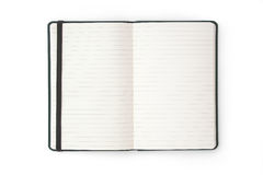 телефон пустой тетради дневника книги открытый Стоковая Фотография
