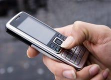 телефон руки клетки Стоковое Изображение