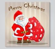 Телефон Санта Клаус дизайна крышки Стоковые Изображения