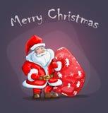 Телефон Санта Клаус дизайна крышки Стоковое Изображение