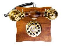 Телефон сбора винограда сделанный от древесины и металла Стоковые Изображения