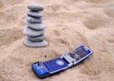 телефон стога камушка Стоковая Фотография RF