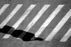 телефон тени человека Стоковое Фото