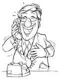 телефон человека говоря Иллюстрация штока