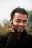 телефон человека многодельной клетки индийский Стоковые Фото