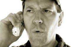 телефон человека Стоковые Фотографии RF