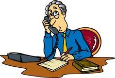 телефон человека Иллюстрация штока
