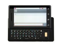 телефон черни открытый готовый посылает sms к Стоковые Изображения RF