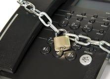 телефон черного замка обеспеченный Стоковое Изображение RF