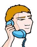 телефон 02 мальчиков Стоковые Изображения