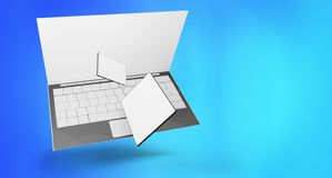 Телефон 3d-illustration планшета компьютера иллюстрация вектора