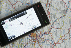 телефон gps Стоковое Изображение RF
