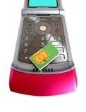 телефон sim карточки передвижной Стоковые Изображения RF