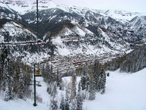 теллурид лыжи курорта Стоковые Изображения