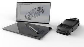 Тело в бело- идее проекта автомобиля бесплатная иллюстрация