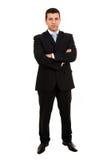 Тело молодого бизнесмена полное стоковая фотография rf