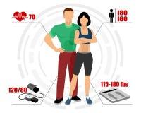Тело Infographics здоровое Стоковые Изображения