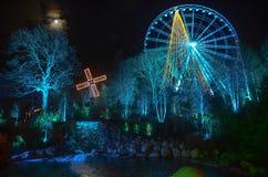 Тематический парк рождественской ярмарки зимы Гётеборга Liseberg стоковая фотография rf