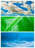 тема абстрактной предпосылки относящая к окружающей среде Стоковые Изображения RF