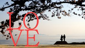 тема влюбленности и концепция валентинки Стоковые Изображения