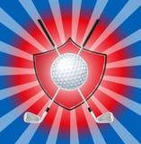 тема гольфа состава предпосылки панорамная Стоковое Изображение RF