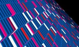 тема графика конструкции кубика Стоковая Фотография