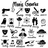 Тема жанров кино Стоковые Изображения