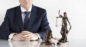 Тема закона и правосудия Офис правового советника Место для оформления стоковые изображения rf