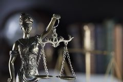 Тема зала судебных заседаний Стоковое Изображение RF