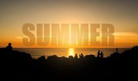 Тема захода солнца лета Стоковое фото RF