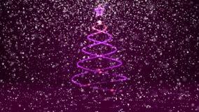 Тема зимы для предпосылки рождества или Нового Года с космосом экземпляра Конец-Вверх дерева Xmas от частиц зарева сияющих внутри бесплатная иллюстрация