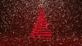 Тема зимы для предпосылки рождества или Нового Года с космосом экземпляра Конец-Вверх дерева Xmas от частиц зарева сияющих внутри иллюстрация вектора